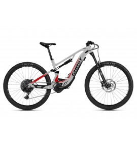 GHOST E-Bike ASX Base 160 B625 - Iridium Silver / Jet Black / Red