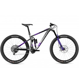 GHOST Riot Enduro Full Party - Silver / Electric Purple